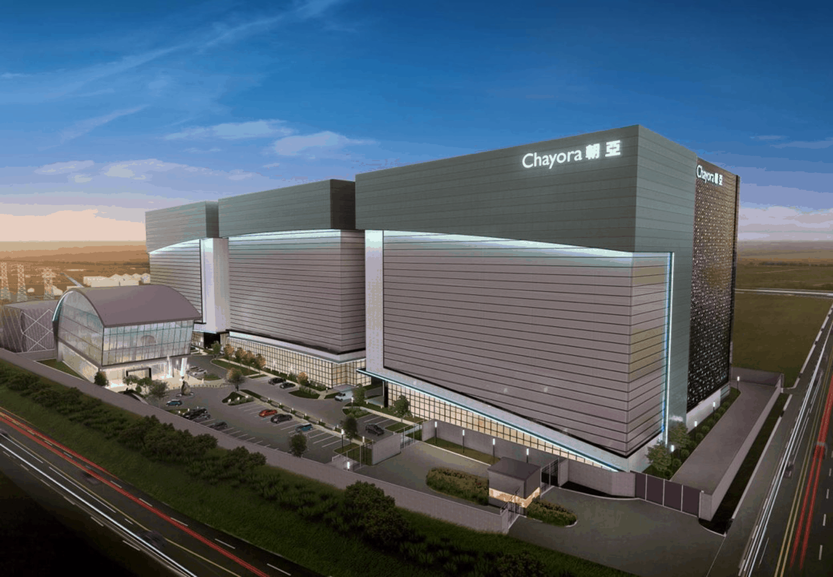 Shanghai Data Centre Campus - Photo of the building complex of chayora's china data center in Shanghai